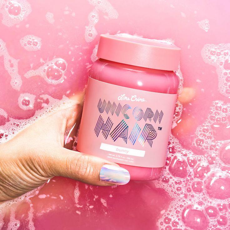 unicorn hair dye sample bunny baby pastel pink vegan cruelty free makeup cosmetics