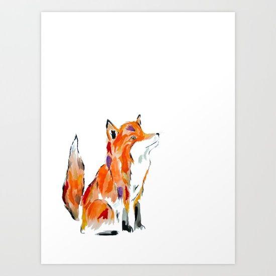 Stay Foxy Art Print by Art By Chrissy Taylor - $22.00