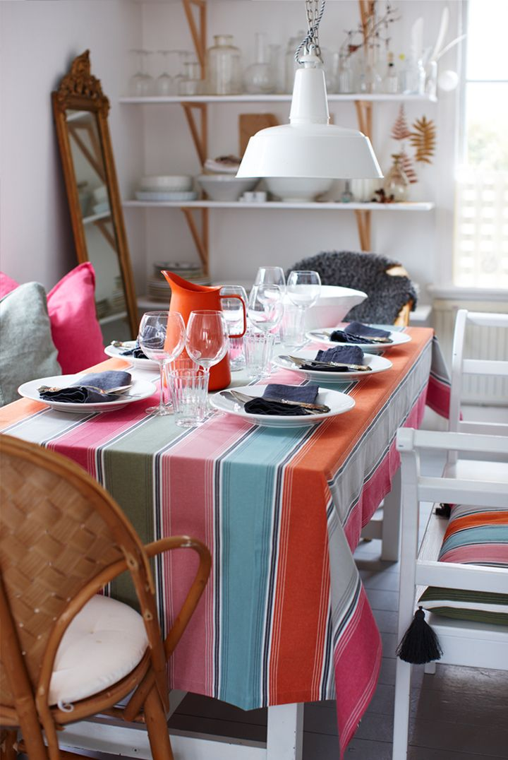 table decoration with the new products from Linum