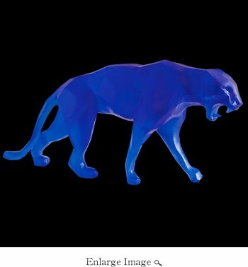 Daum Crystal Richard Orlinski's Blue Wild Panther - Limited Edition of 99