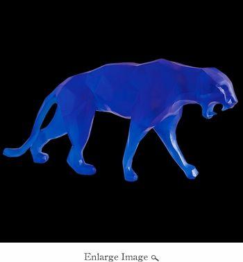 Daum Crystal Richard Orlinski's Blue Wild Panther - Limited Edition of 99