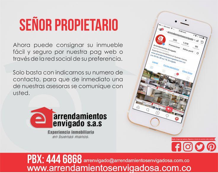 ¡Deje su propiedad en las mejores manos! Arrendamientos Envigado EXPERIENCIA INMOBILIARIA EN BUENAS MANOS.