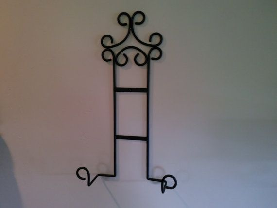 Large metal platter rack large platter holder large platter hanger large platter display wall mounted black wrought iron & 59 best functional art for the home images on Pinterest ...