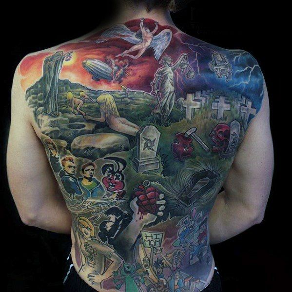 60 Metallica Tattoos Designs For Men Heavy Metal Ink Ideas Led Zeppelin Tattoo Metallica Tattoo Green Day Tattoo