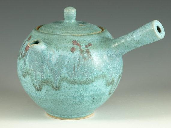 Kyusu Teapot  Japanese style loose green tea by Hodakapottery, $70.00
