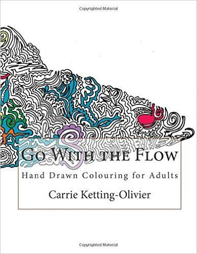 Go With The Flow - Hand Drawn Colouring for Adults by TheHookLine on Etsy