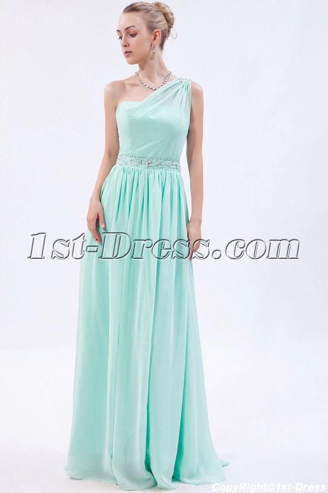 One Shoulder Grecian Style Dress