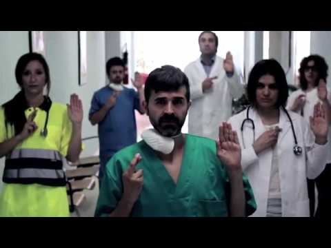 Spanish doctors and nurses protest over health care law for immigrants.: