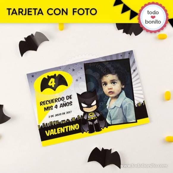 Batman: tarjeta con foto