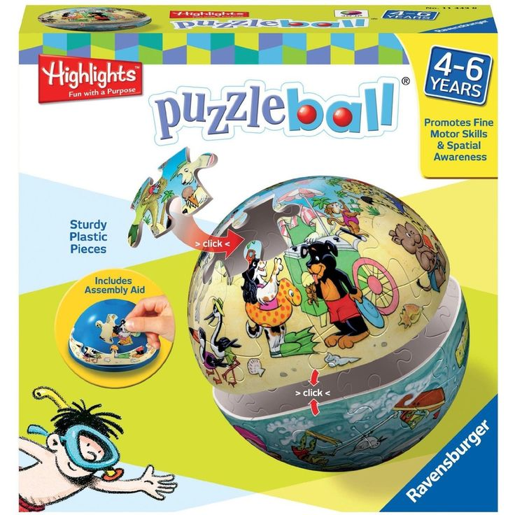 Ravensburger Highlights Land and Sea 40-Piece Puzzleball