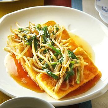 豆腐ソテーのもやしあん   石原洋子さんのあんかけの料理レシピ   プロの簡単料理レシピはレタスクラブニュース