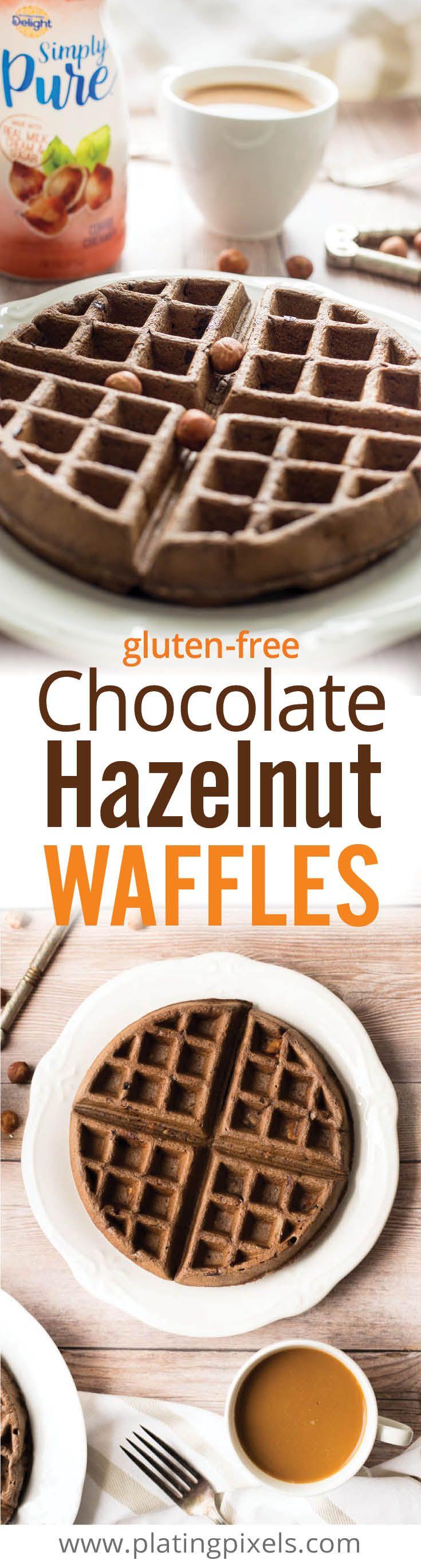 free Chocolate Hazelnut Waffles. Decadent waffles with peanut butter ...