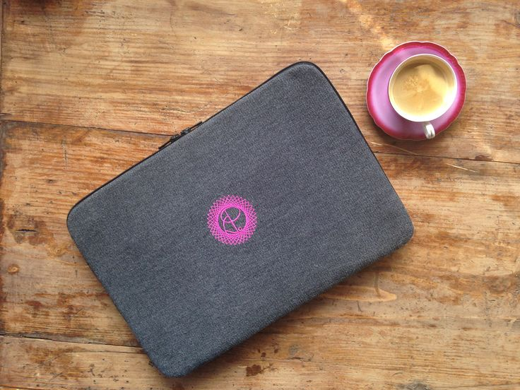 My stylish monogrammed laptop case made with love.