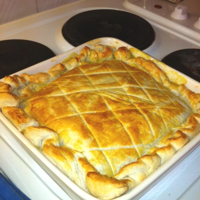 Home made chicken pie
