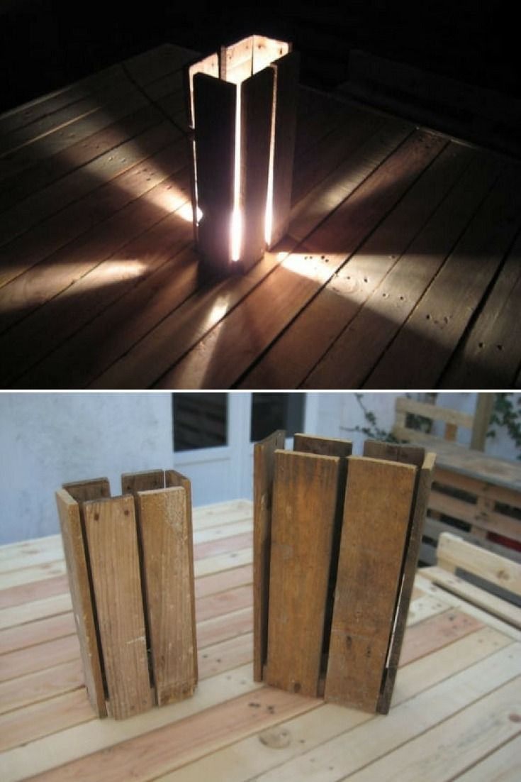 Wooden Pallet Floor Lamp Wooden Floor Lamps