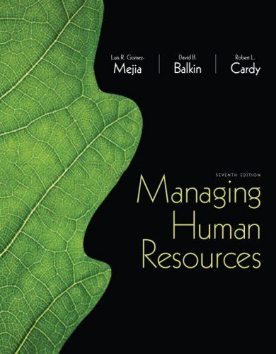 I'm selling Managing Human Resources (7th Edition) by Luis R. Gomez-Mejia, David Balkin and Robert Cardy - $25.00 #onselz