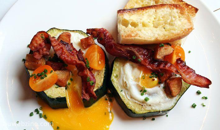 Oeuf et zucchini géant pour le brunch!