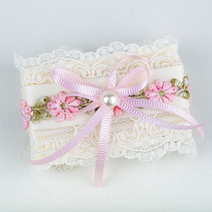 Soap with pink lace. Ideal for baby showers where baby girls expected.