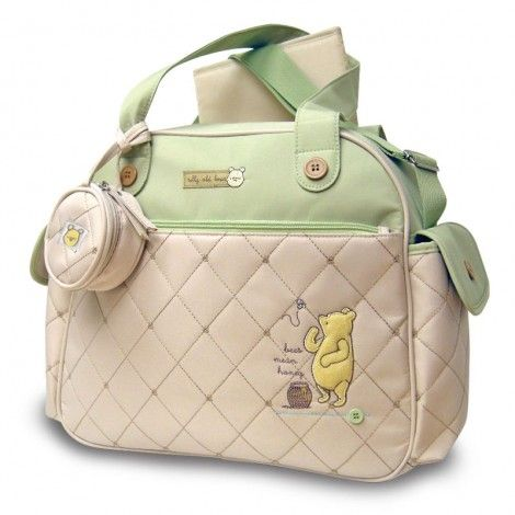 cute designer diaper bags 1ecp  Classic Pooh Quilted Over-Nighter Diaper Bag I dont normally like  characters or designs on