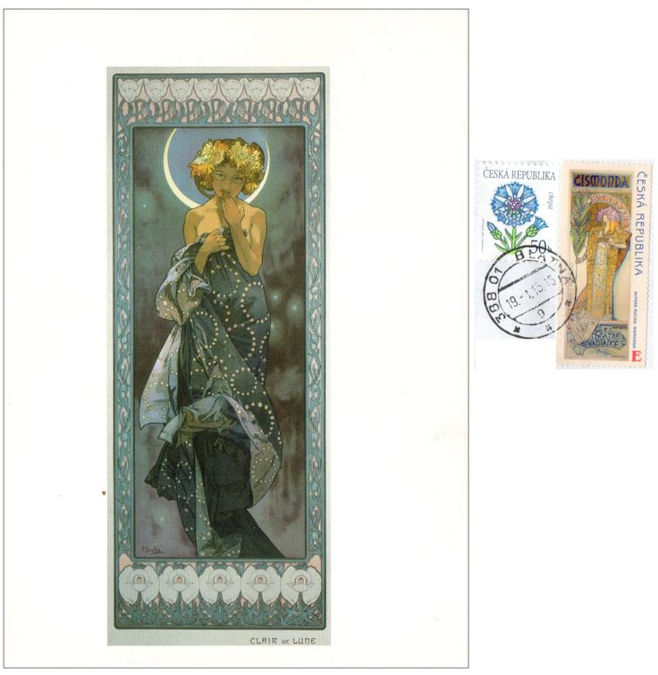 CZ-578014 - Arrived: 2015.01.24   ---   Mucha - The Moon (1902)