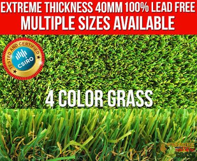 Beautiful Synthetic Lawn : Beautiful Synthetic Lawn Pet Friendly Kids Safe 40...
