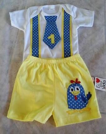 Resultado de imagen para roupas de menino para festa galinha pintadinha f1ebc87843c