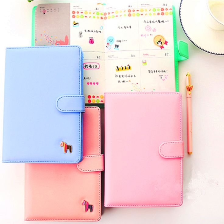2017 new cute rainbow pony leather notebook A5 Japan Diplomatic schedule of the program organizing committee
