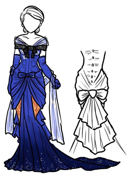 TARDIS dress design; Created by ladylawga