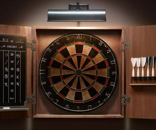 Vintage Tournament Dart Board No Game Room Or Man Cave