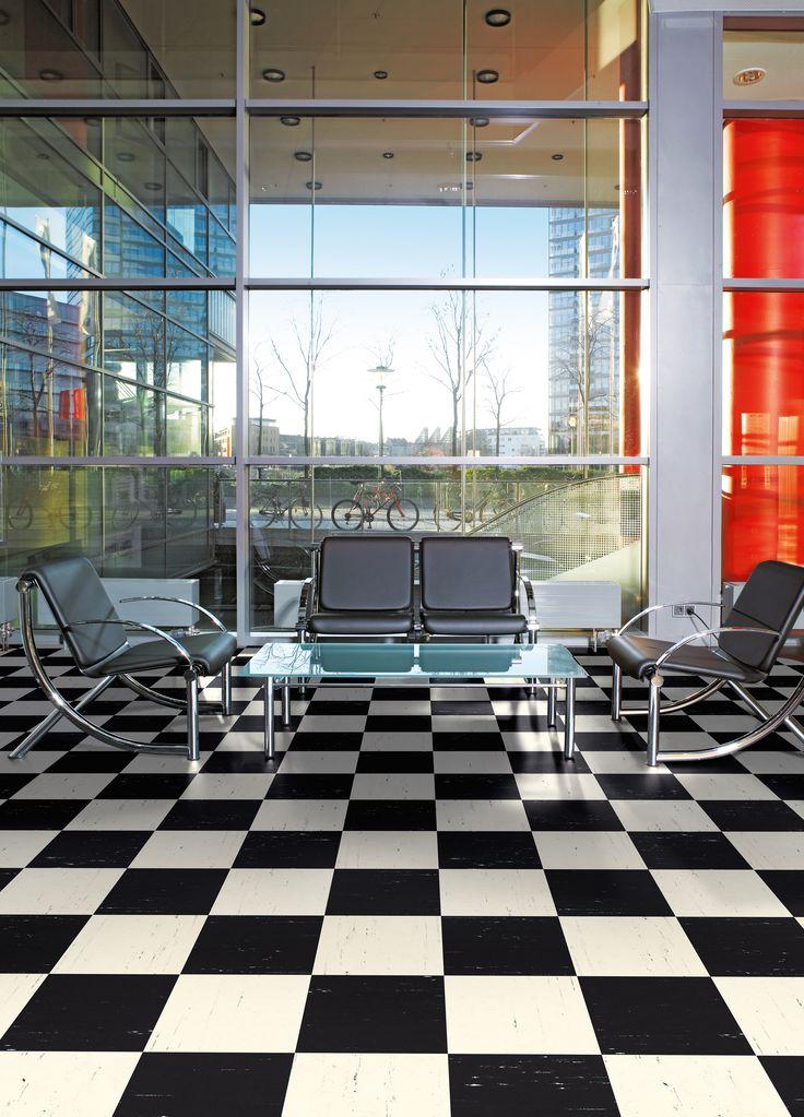 Polyflor Polyflex Plus Flooring - bold and modern office waiting area