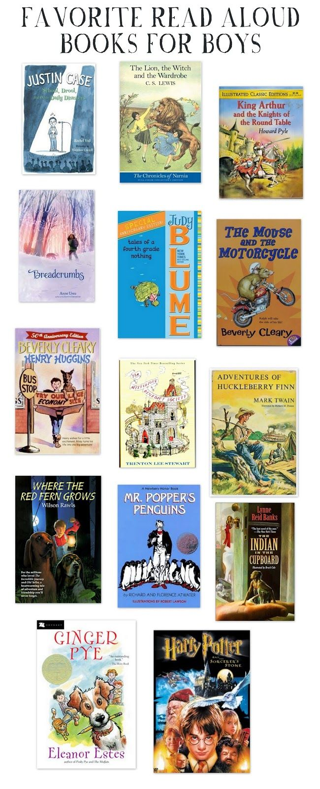 Books to Read Aloud to Boys---look into this list