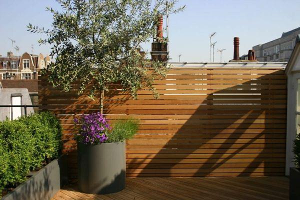 Coole Dachterrasse Designs Holz Sichtschutz Topf | Draussen ... Balkon Sichtschutz Aus Holz