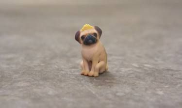 "Saatchi Art Artist Eric van Straaten; Sculpture, ""Princess Pug \ Limited Edition…"