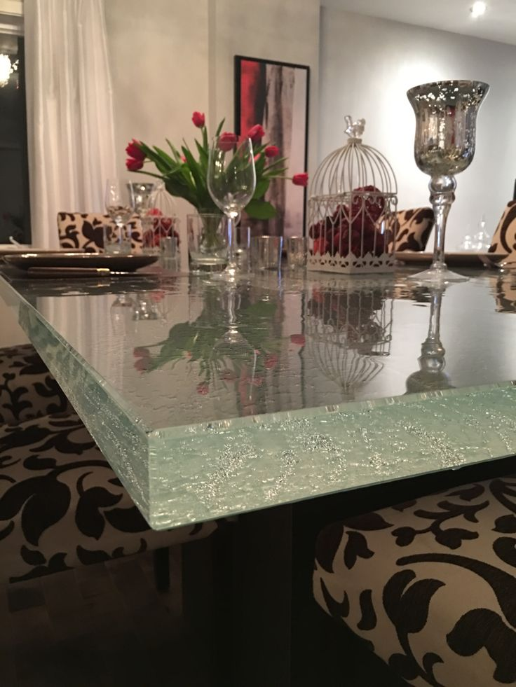 18 best unique glass table tops images on pinterest for Creative table tops