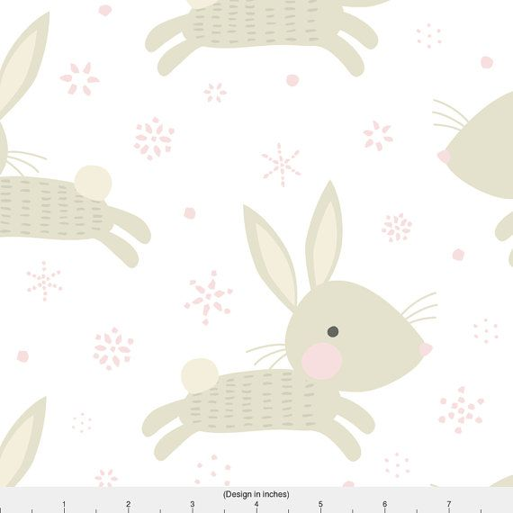 Rabbit Fabric Bunnies Snow Day // By Petite Circus Bunny