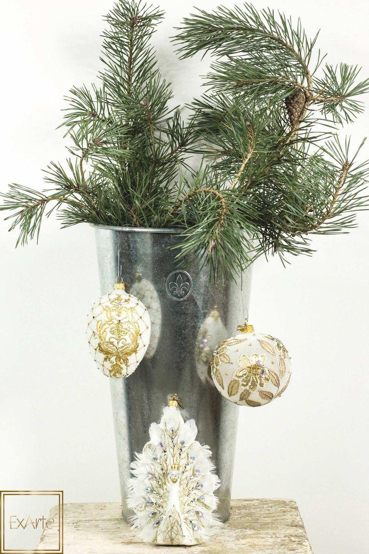 Nowoczesne Święta Bożego Narodzenia - szklane bombki, dekoracje.  Please visit our online shop with beautiful, hand crafted glass christmas ornaments :)