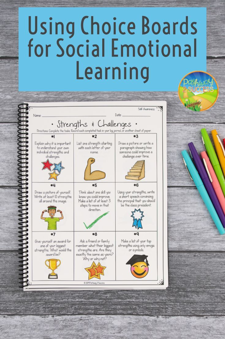 Social Emotional Learning Choice Boards Activities Digital Print Social Emotional Social Emotional Learning Social Emotional Learning Activities