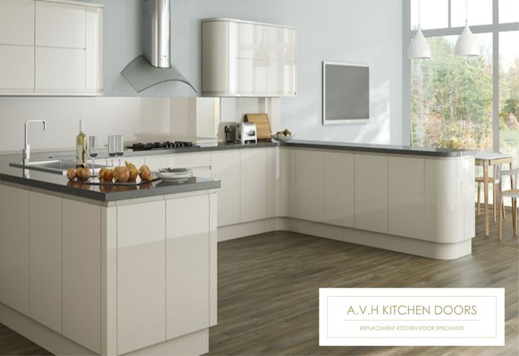 Made to measure replacement kitchen cabinet doors and drawers from www.avhkitchendoors.co.uk #replacementkitchendoors #handleless #alabastergloss #kitchenmakeover #madetomeasure #kitchen #avhkitchendoors