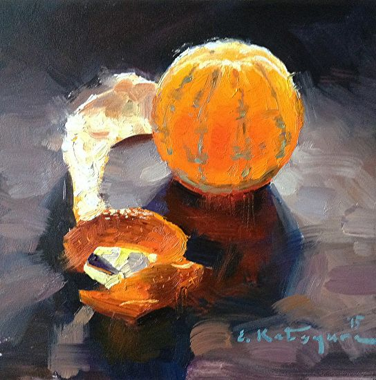 Monday Mandarin by Elena Katsyura Oil ~ 6 x 6