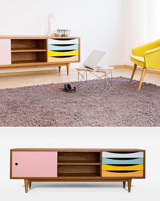 kinda old-school! Love it! meuble 50's pastel