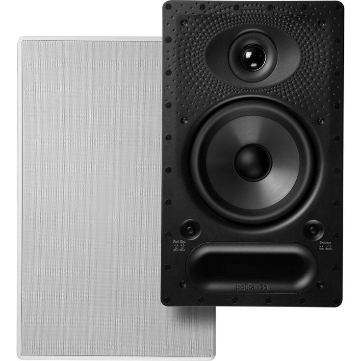 """Polk Audio - Vanishing Series RT 6.5"""" 2-Way In-Wall/In-Ceiling Loudspeaker (Each) - White"""