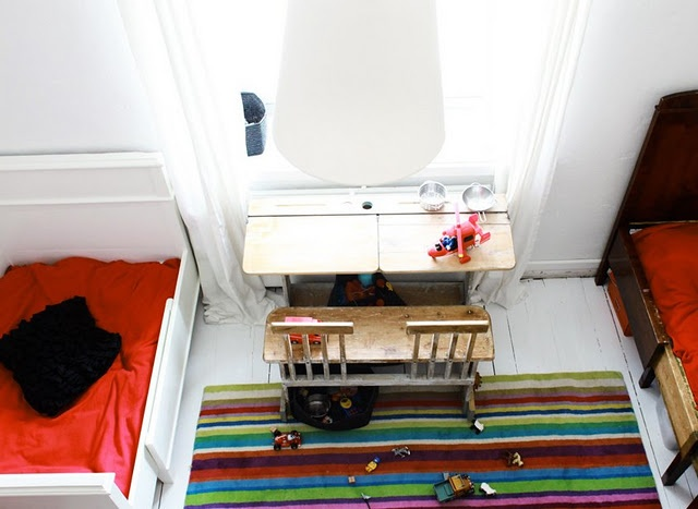 the beds + old school desk: Kids Sharing, The Kids, Search, Kidsroom, Desks, Boys Room, Kids Rooms