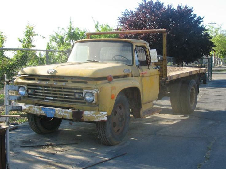 Ford F250 With Flatbed >> | 1963 Ford F600 Flat Bed DUMP Truck F602 With A GVW of 19,500 1 | I'm a Ford~~ | Pinterest ...