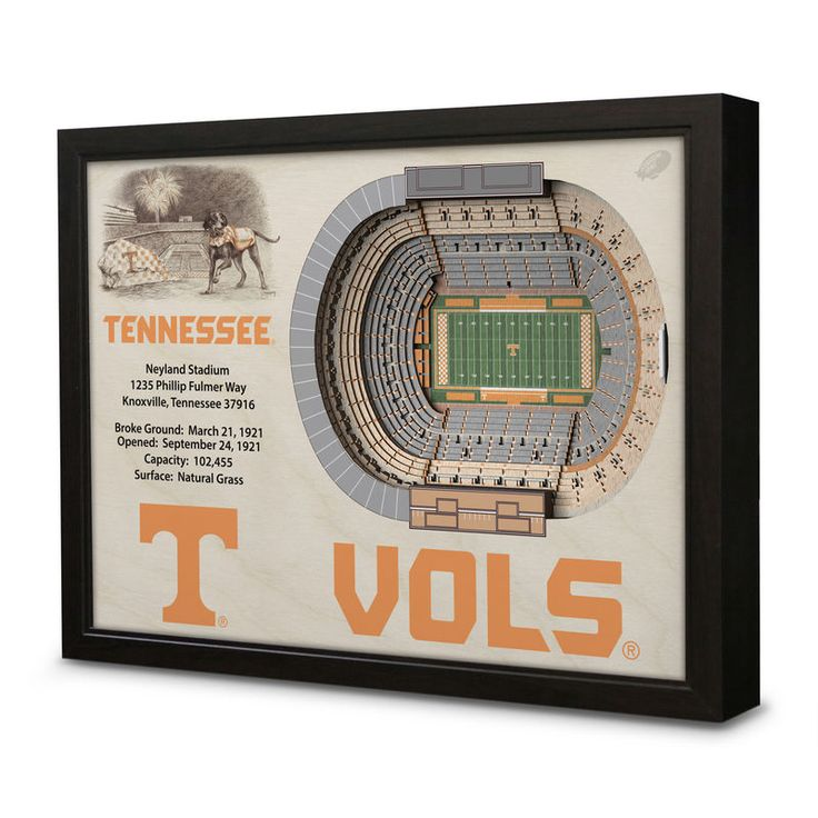 "Tennessee Volunteers 27"" x 21"" Neyland Stadium Wall Art"