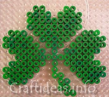 perler beadsBeads Crafts, Beads Design, Fuse Beads, Fused Beads, Beads Shamrock, Beads 3, Hama Beads, Corn Perler Beads, Beads Crosses Stitches