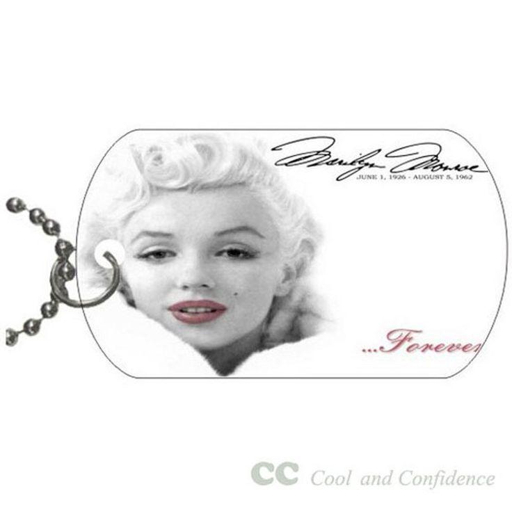 Custom Marilyn Monroe best fashion Pet Dog Tag pendant necklace Chain #DIY