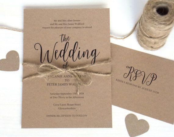 20 best wedding invitation templates images on pinterest wedding
