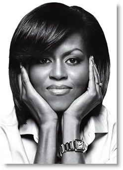Michelle Obama. Classy, chic and passionate