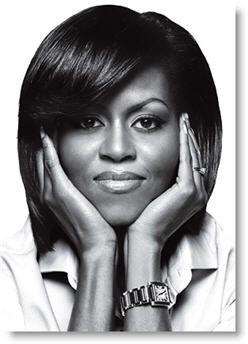 Michelle Obama. Classy, chic and passionate