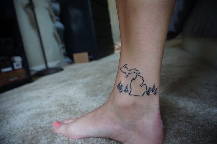 Michigan outline tattoo